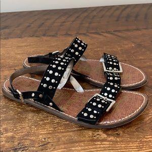 Sam Edelman Black & Silver Glade Sandals   Size 11